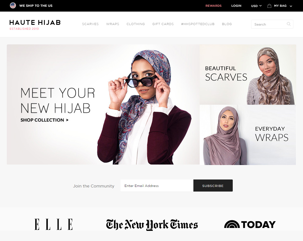 shopify plus example store haute hijab whole design studios