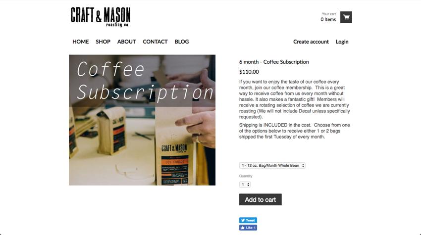 CraftandMason 6 month Coffee Subscription 2016 10 07 23 09 00 1