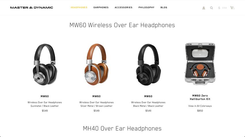 Shop Over Ear and On Ear Headphones Master Dynamic 2016 10 07 23 03 01 1