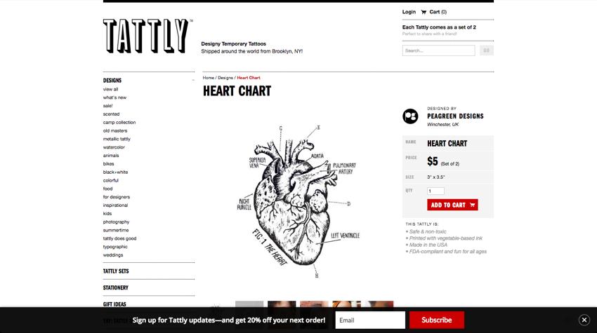 TattlyE284A2 Designy Temporary Tattoos. E28094 Heart Chart 2016 10 07 23 02 22 1