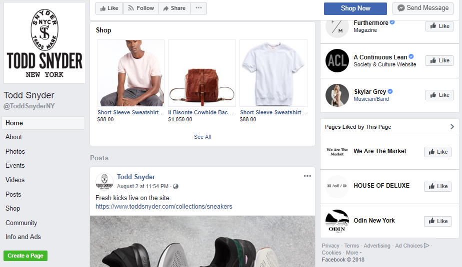 4] Shopify Facebook Store Examples - Whole Design Studios