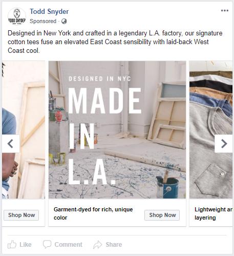 4] Shopify Facebook Store Examples - Whole Design Studios